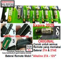 baterai remote alarm mobil ori alkaline 27a 27 a ayla avanza xenia dll