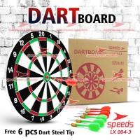 """DART GAME BESAR Papan Dart Board Besar 17 """" 004-3 1PC=1.2KG"""