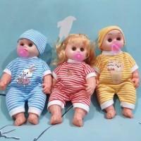 Mainan Boneka Dot Empeng Bayi Botak dan Susan Suara Menangis