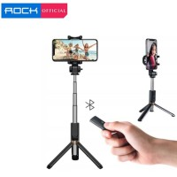 ROCK Bluetooth Portable and Extendable Mini Selfie Stick with Tripod