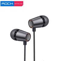 ROCK Mufree With Mic Wired In-Ear Earphone Rich Bass HiFi Stereo