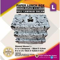 PAPER LUNCH BOX UK.L DUPLEX 310 GRAM LAMINASI PUTIH MOTIF GOFOOD GRABF