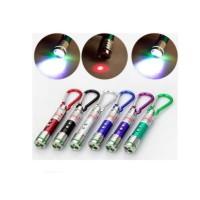 Senter Laser LED 3in1 Gantungan Kunci Pointer Sinar kedip