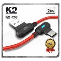[GROSIR] Kabel Data GAMING LED 2M K2-C08 K2 PREMIUM QUALITY IPHONE
