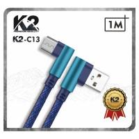[GROSIR Kabel Data GAMING DENIM 1M K2-C13 K2 Premium Quality MICRO USB