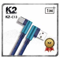 Kabel Data GAMING DENIM 1M K2-C13 K2 Premium Quality TYPE C Fast