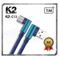Kabel Data GAMING DENIM 1M K2-C13 K2 Premium Quality MICRO USB Fast