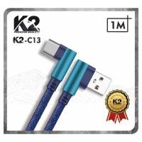 [GROSIR] Kabel Data GAMING DENIM 1M K2-C13 K2 Premium Quality TYPE C
