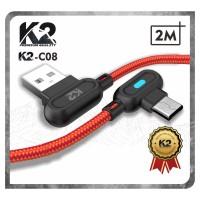 [GROSIR] Kabel Data GAMING LED 2M K2-C08 K2 PREMIUM QUALITY MICRO USB