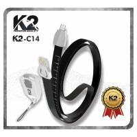 Kabel Data LANYARD K2-C14 PREMIUM QUALITY TYPE C 2.4A