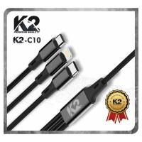 [GROSIR] Kabel Data 3IN1 K2-C10 K2 PREMIUM QUALITY Micro Type C IPHONE