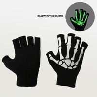 Elfs - Sarung Tangan Tengkorak Glow in the Dark Halloween Skull Gloves