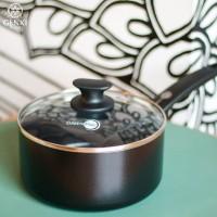 GreenPan Cambridge Black Saucepan - 18 cm