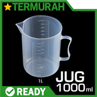 gelas ukur takar plastik 1000ml 1000 ml 1L 1 L liter litre air