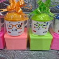 paket souvenir ulang tahun kotak makan Lego dan mug Trixy/gelas trixy