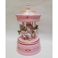 Music Box Carousel Pink