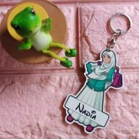 Gantungan kunci hijab/muslimah (costum nama suka-suka)