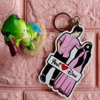 Gantungan kunci couple (costum nama suka-suka)