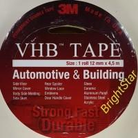 Double Tape 3M VBH 12 mm X 4,5 m ORIGINAL / DOUBLE FOAM TAPE
