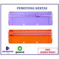 Cutter Pemotong Potong Kertas Foto Portabel Paper Trimmer Scrapbook