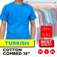 Kaos Polos Lengan Pendek / Turkish - Cotton Combed 30s-Best Quality - M