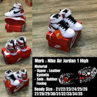 Sepatu Anak Nike Air Jordan White Black Red Grade Original