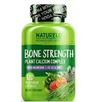 NATURELO BONE STRENGTH 120 KAPSUL PLANT BASED CALCIUM NON GMO ORIGINAL