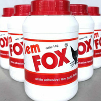 Lem Fox Putih / Lem PVCAC / Lem Kertas Fox kemasan isi 1 kg