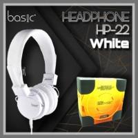 BASIC HEADPHONE HP-22 White (Headphone)