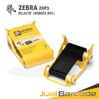 RIBBON TINTA HITAM BLACK PRINTER ZEBRA ZXP SERIES 3 ZXP3 - 800033-801