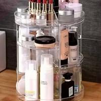 Rak Kosmetik 360 Derajat Acrylic & Make Up Putar tempat