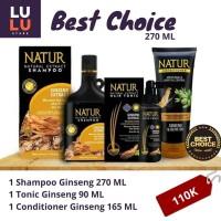 Paket Perawatan Rambut Rontok Shampoo 270 ml Ginseng Series