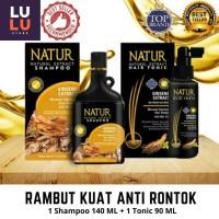 Paket Natur Shampoo 140 + Tonic Ginseng Menguatkan Rambut Anti Rontok