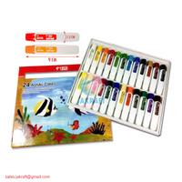 Cat Lukis Akrilik Acrylic Paint Set 24 Warna TITI ACC-12ML-24