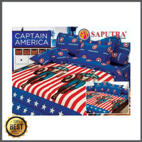 Saputra Bed Cover Set King Captain America / Bedcover 180x200 Limited