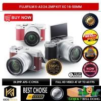 Fujifilm X-A3 24.2MP Kit XC 16-50mm f/3.5-5.6 OIS II Lens - Hitam