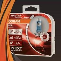 Bohlam Lampu OSRAM H4 NBR NBL Night Breaker LASER 12V 60-55W Origina