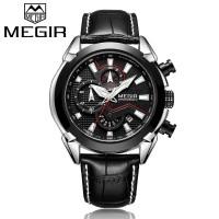 Megir Pria 2065P Quartz Jam tangan sport mode kasual tahan air