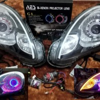 Headlamp lampu utama mobil Honda Mobilio dan Brio projie HID AES AC