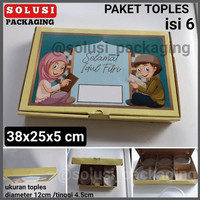 PAKET TOPLES ISI 6 toples mika toples plastik tempat kue kering