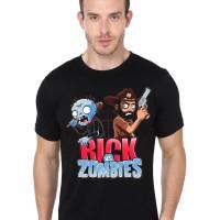 Kaos 5002 Rick vs. Zombies Black T-Shirt