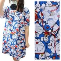 Baju Tidur Wanita / Daster Pajamas Doraemon Tumpuk