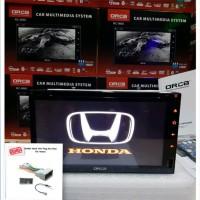 Tv mobil Honda Jazz Brio Mobilio Double din JEC GD 6980 Mirrorlin
