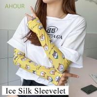 Sarung Tangan Lengan Panjang Motif Print Buah Dan Bunga Bahan Ice