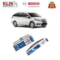 Bosch Wiper Depan & Belakang Mobil Honda Mobilio Frameless New Clear