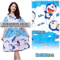 Piyama Daster Wanita Dewasa Doraemon Blue Sky Saku Baju