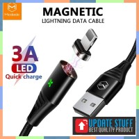 Mcdodo 1.2m 4ft Magnetic Lightning Data Kabel Max 3A Fast Charging