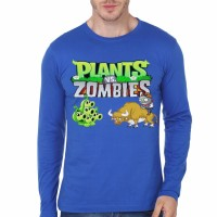 Kaos 2635 Plants vs Zombies Royal Blue T-Shirt