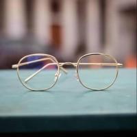 Frame kacamata oval agak kotak / FRAME KACAMATA NAYAKO, WARNA GOLD