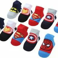 kaos kaki bayi lucu motif karakter superhero banyak pilihan